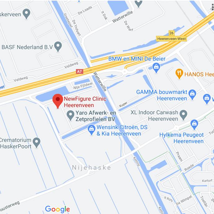 route naar Newfigure Heerenveen